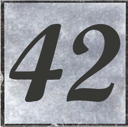 Huisnummerbord met of zonder naam de naamborden site for Huisnummerbord maken