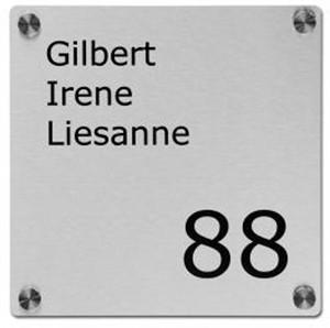 Verwonderlijk Huisnummerbord met of zonder naam De Naamborden Site UN-09
