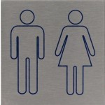 Heren/Dames rvs Pictogram