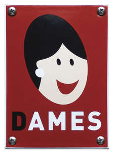 Dames wc bord