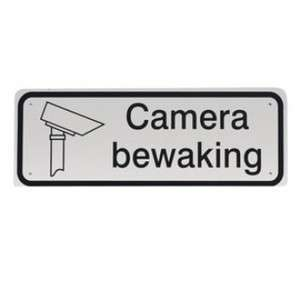 Tekstbord Camera bewaking